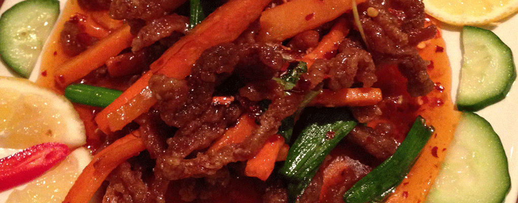 Beef in Chilli Bean Sauce