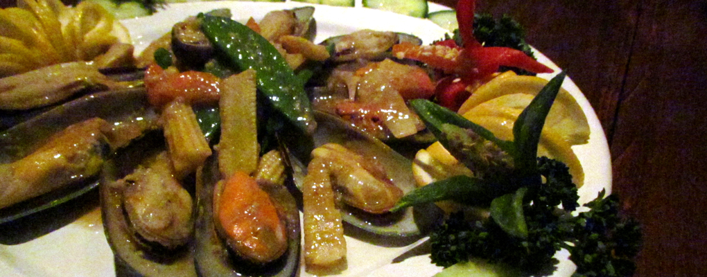 New Zealand Mussels in Garlic Sauce