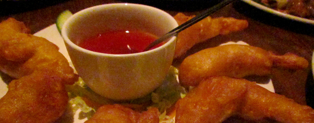 Prawns in Batter and Chilli Sauce
